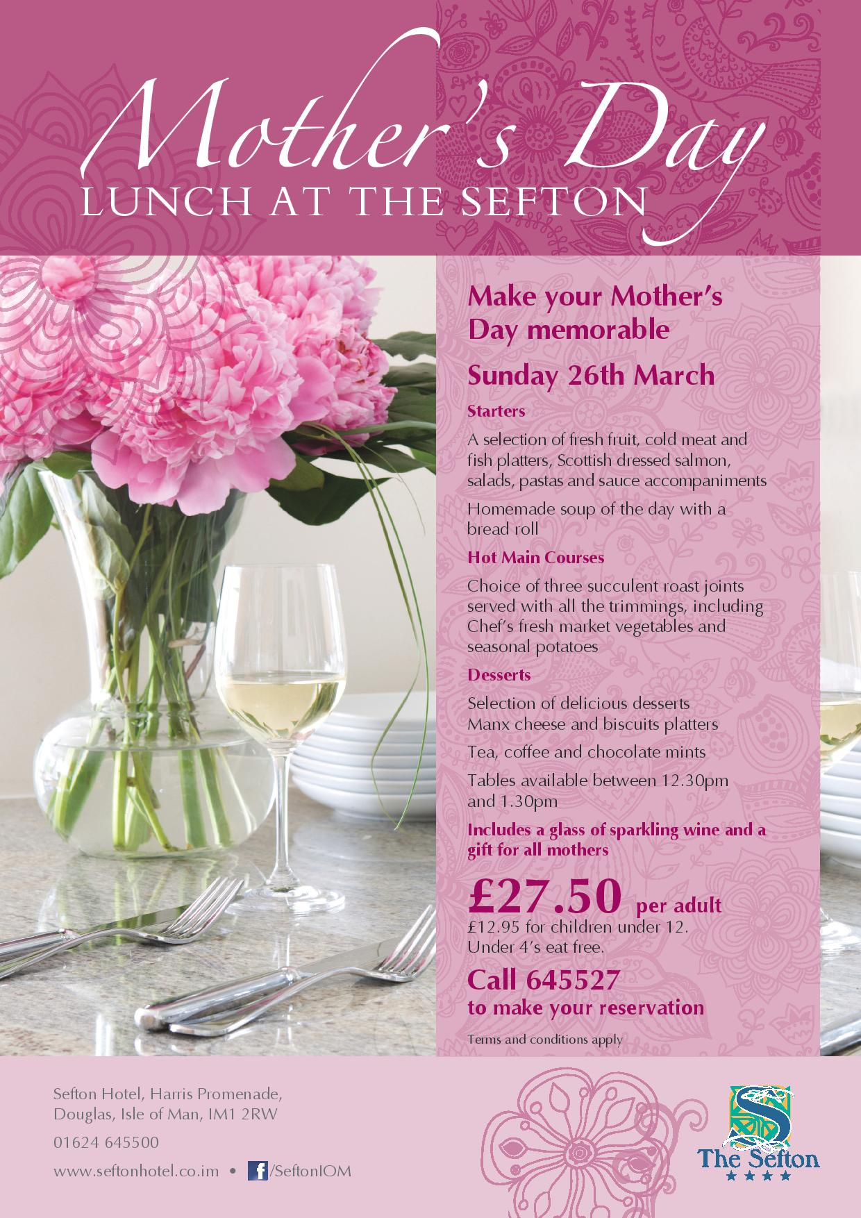 Mother's Day at The Sefton